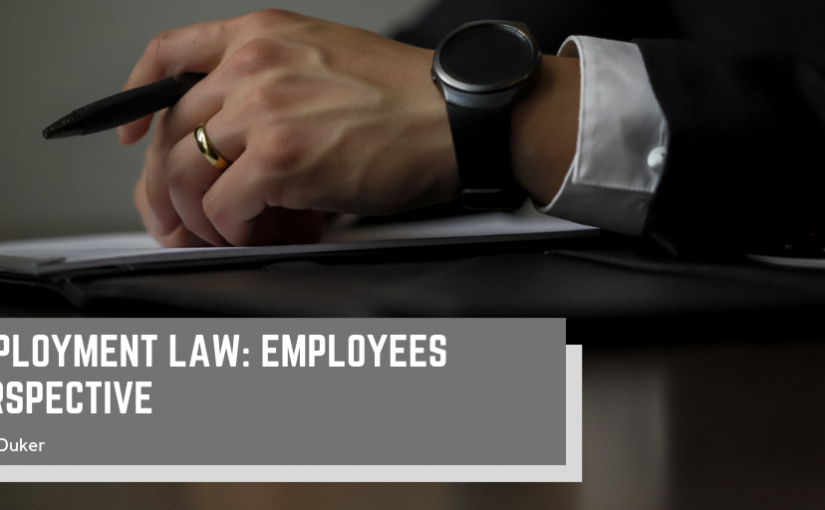 Employment Law: Employees Perspective